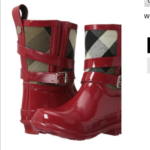 9ca60d1abc7a Burberry Other - Red Kids Burberry Rain boots